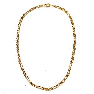 Vintage Figaro Gold Chain Necklace